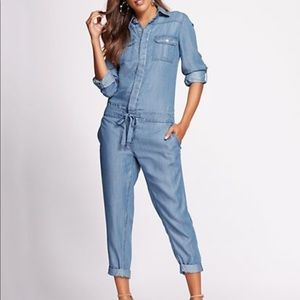 NY&Co Denim Jumpsuit